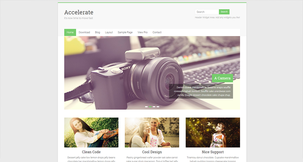 accerlate wordpress free theme 2017