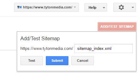 add sitemap search console