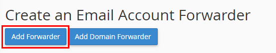 add forwarder cpanel email