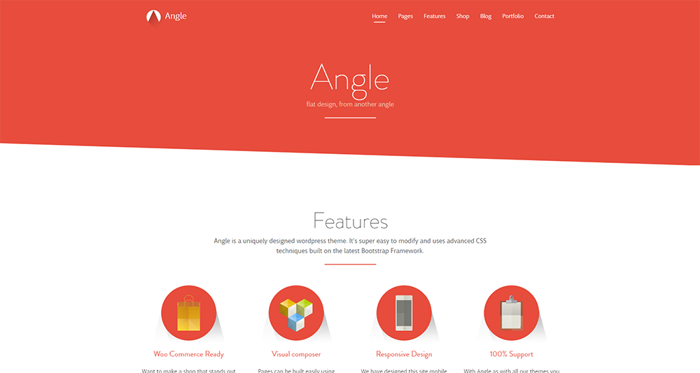 angle wordpress theme 2017