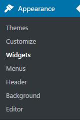 appearance widgets