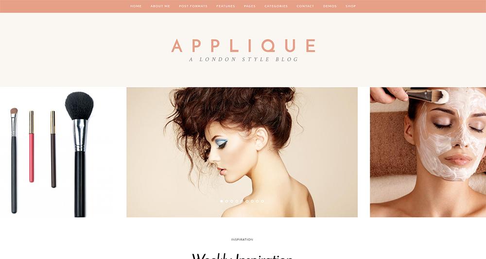 applique wordpress theme 2017