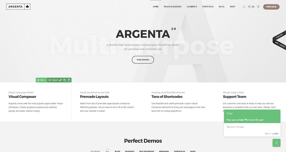 argenta wordpress theme 2017