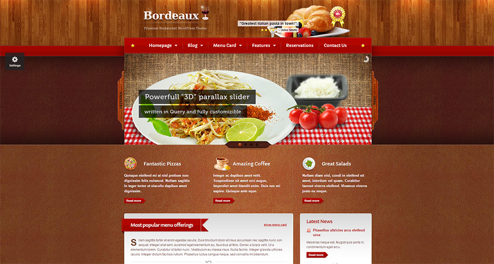 bordeaux wordpress theme 2017