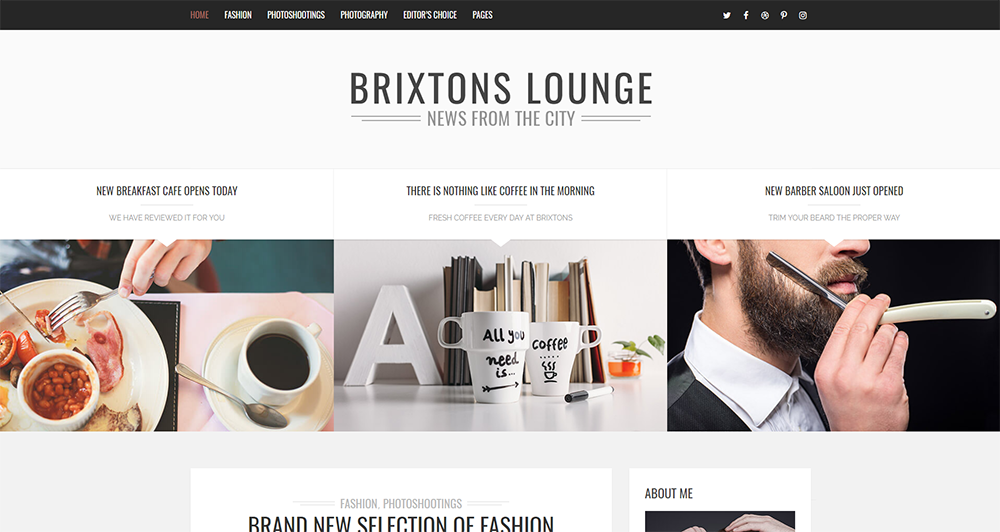 brixtons theme wordpress 2017