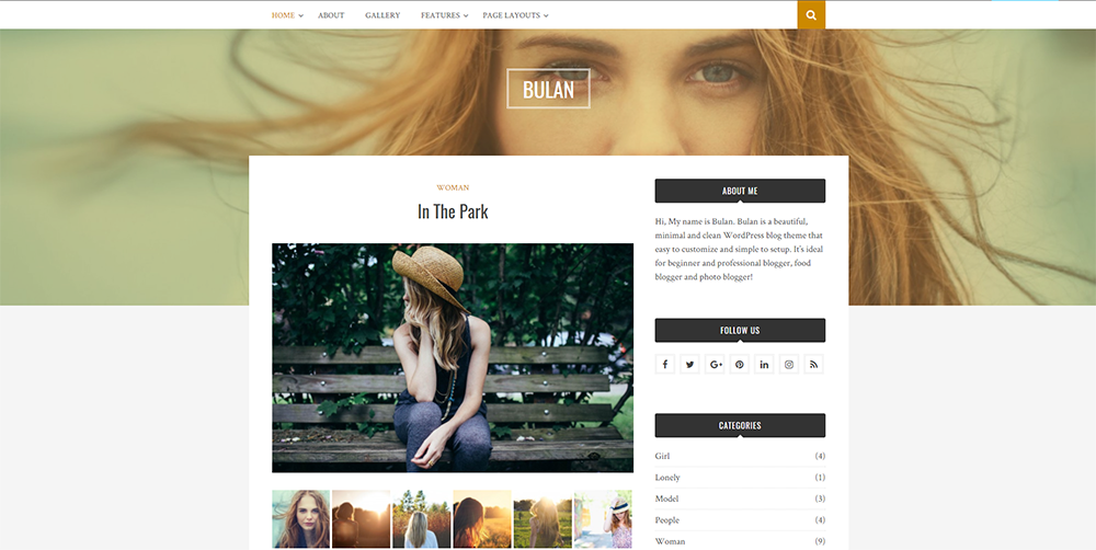 bulan wordpress theme 2017