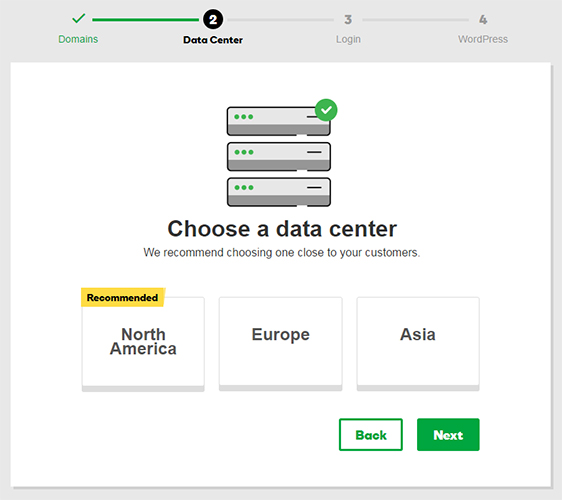 choose data center godaddy web