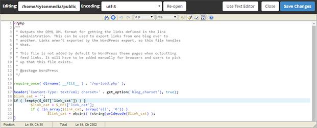 code editor cpanel