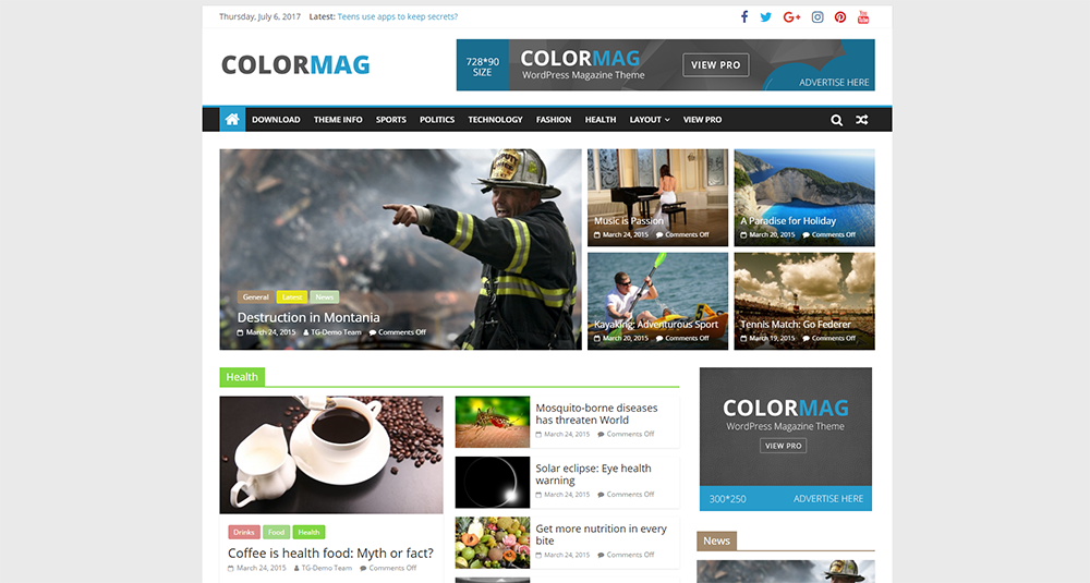 colormag free wordpress theme 2017