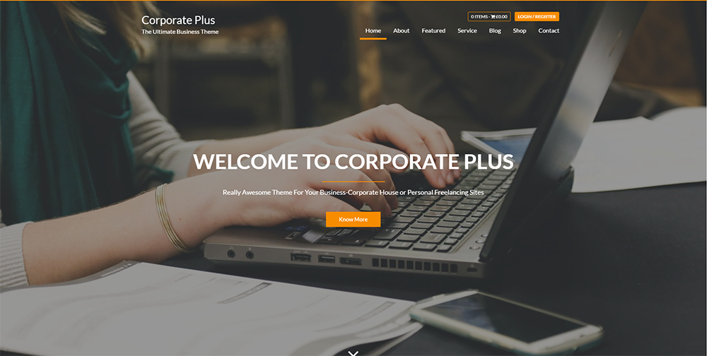 corporate plus wordpress theme 2017