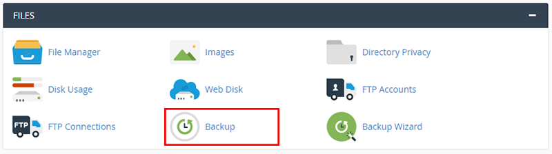 cpanel backup website
