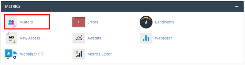 cpanel metrics visitors