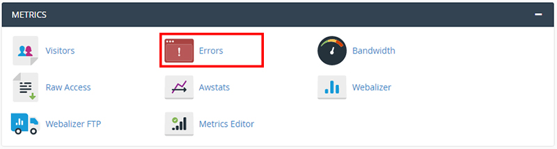 cpanel view website errors