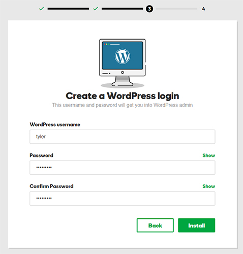 create wordpress login godaddy hosting