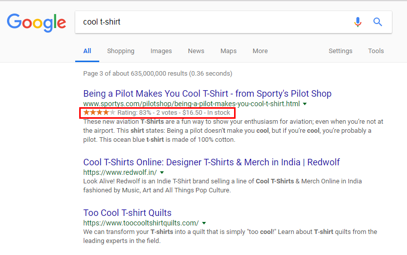 ecommerce structured data snippets