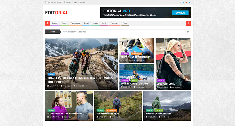 editorial free wordpress theme 2017