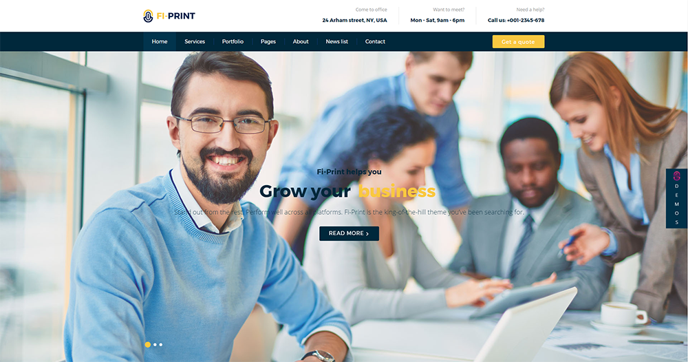 fi-print wordpress theme 2017