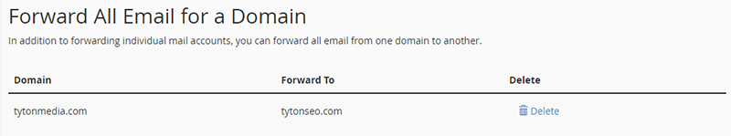 forward all emails to domain