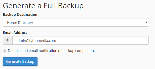 generate full backup cpanel guide