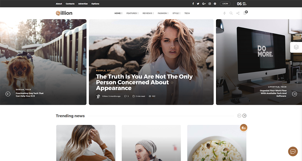 gillion wordpress theme 2017