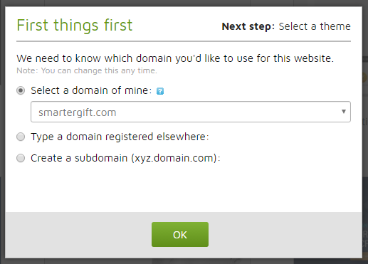 godaddy website builder choose domain