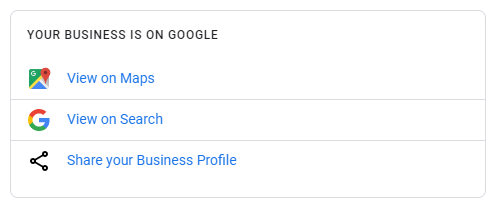 google my business share