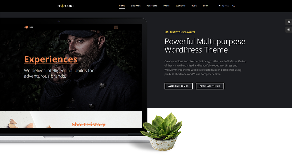 h-code wordpress theme 2017