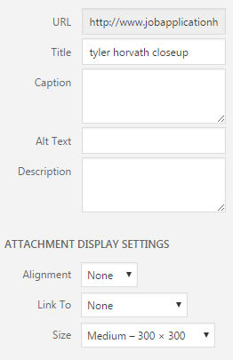 image settings
