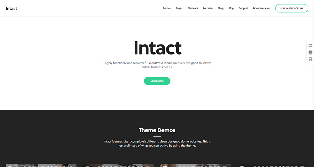 intact wordpress theme 2017