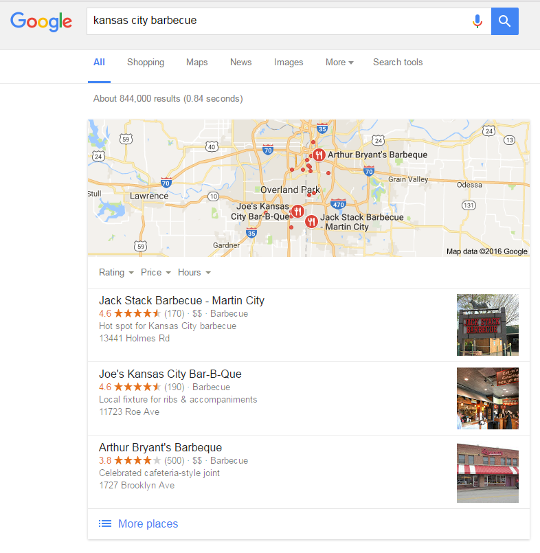 local seo rankings google