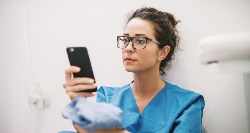 nurse on social media