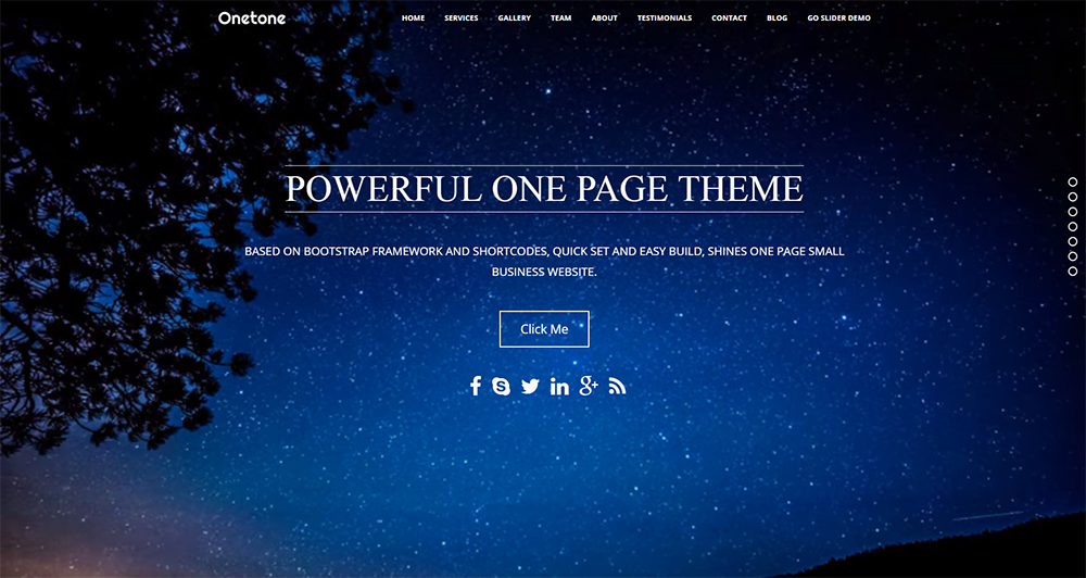 onetone free wordpress theme 2017