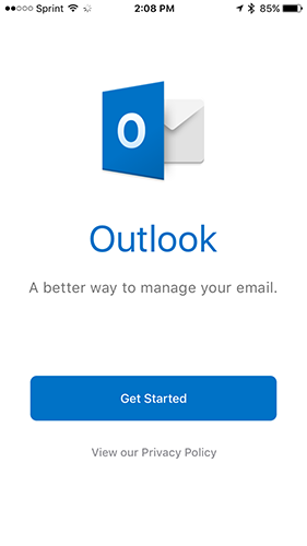 outlook godaddy email get started-iphone