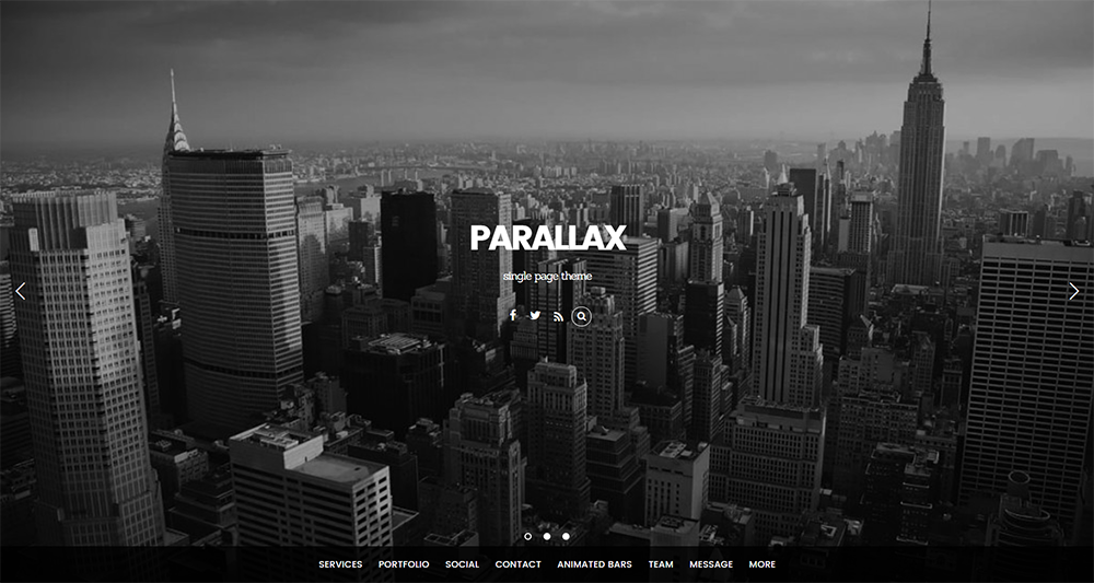 parallax wordpress theme free 2017