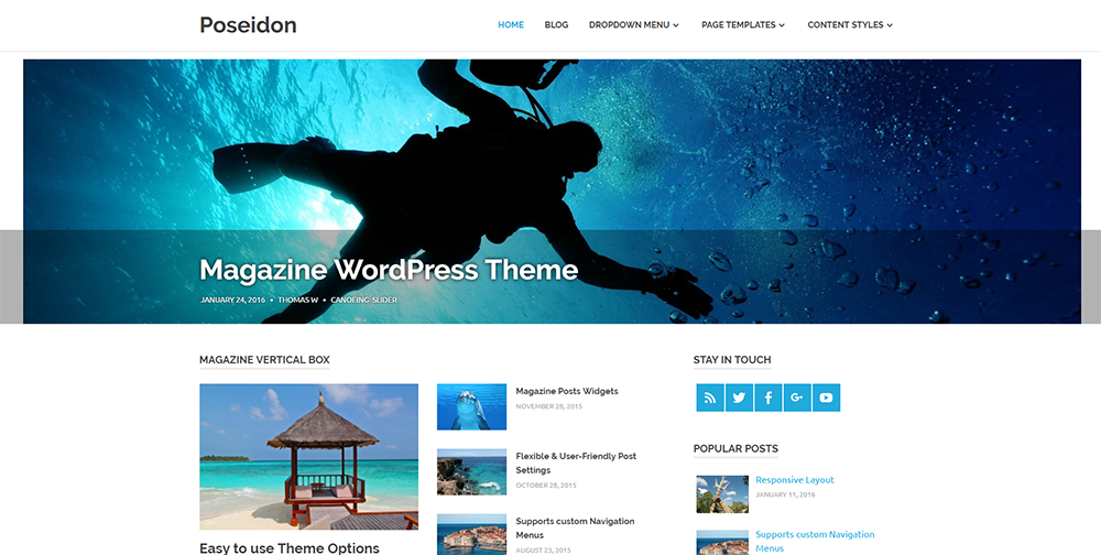 poseidon wordpress theme free 2017