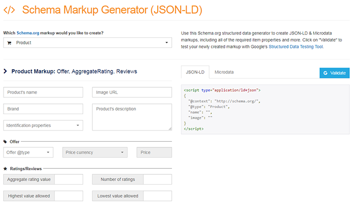 schema markup ecommerce snippets