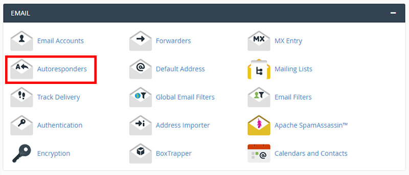 set up autoresponder cpanel