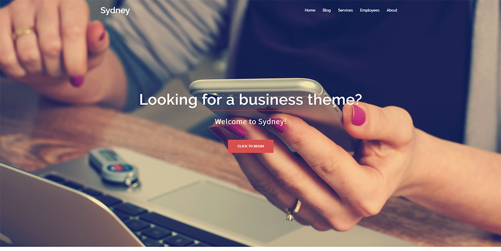 sydney wordpress theme free 2017
