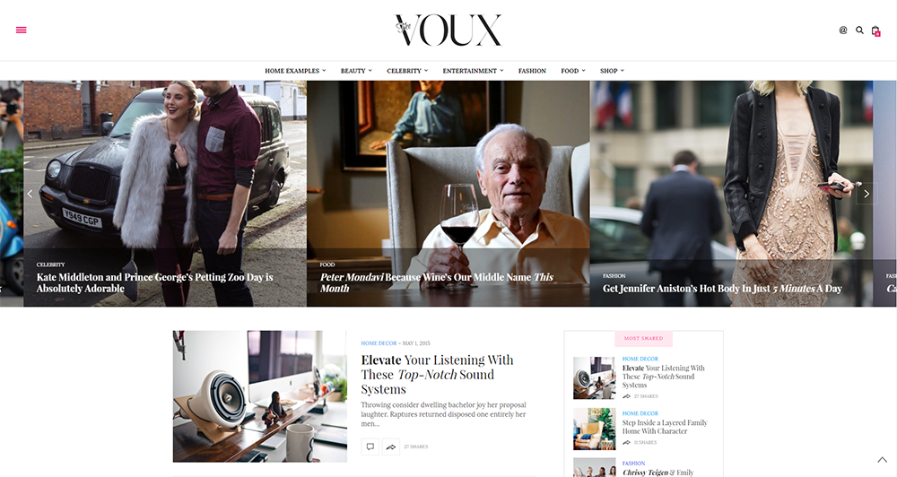 the voux wordpress theme 2017