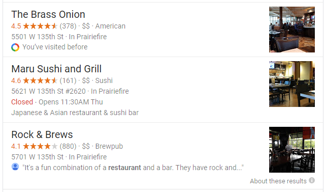 top reviews google restaurants