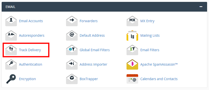track email delivery cpanel