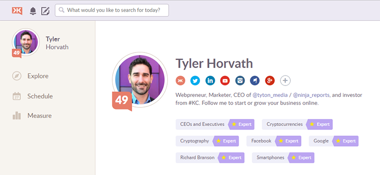 tyler horvath klout