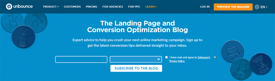 unbounce content marketing blog