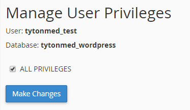 user privileges