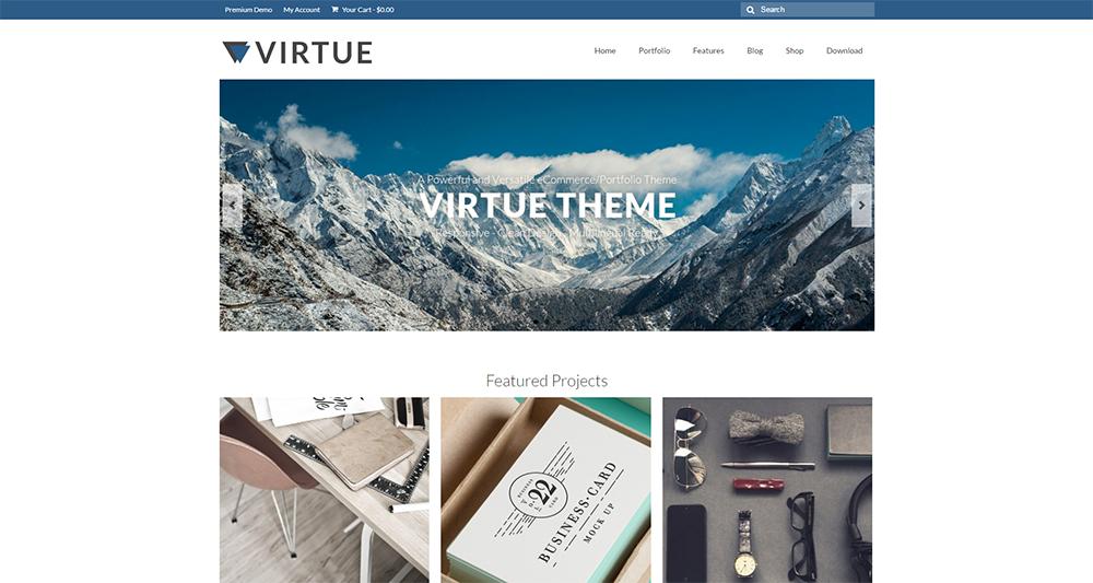 virtue wordpess theme 2017 free