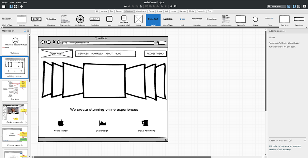 wireframe website redesign