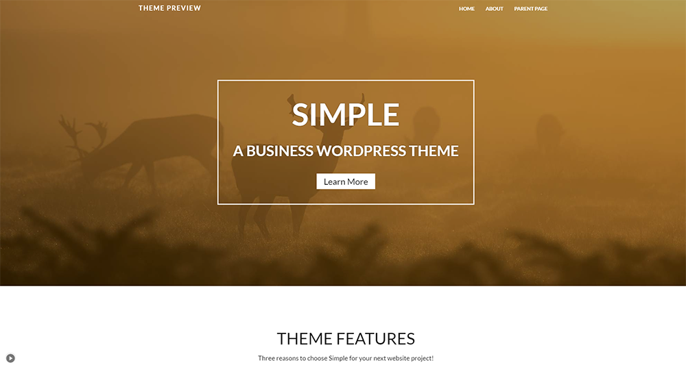 wp simple wordpress free theme 2017